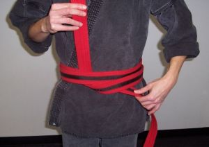 How to Tie your belt Step Four