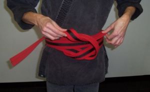 How to Tie your Belt Step Six